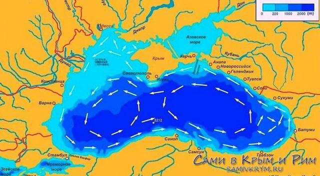 Карта-глубин-в-Черном-море