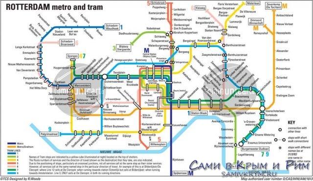 Rotterdam-karta-Metro