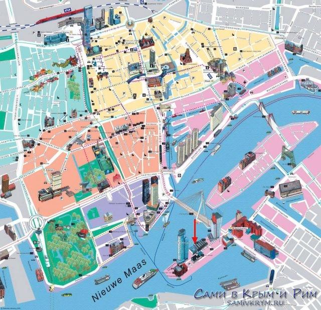 Rotterdam-karta-dostoprimechatelnostei