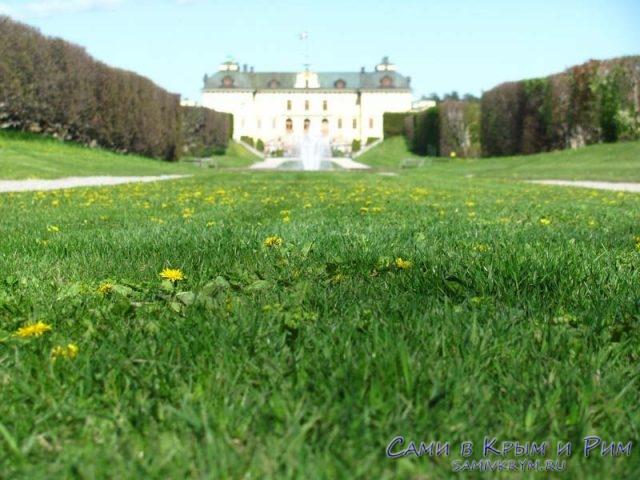 зеленая-трава-перед-дворцом