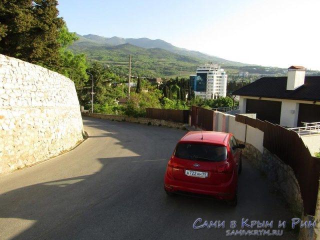 Спуск с трассы к Гурузфу
