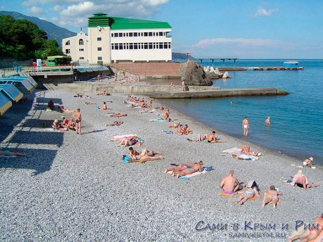 пляж-в-санатории-Ливадия