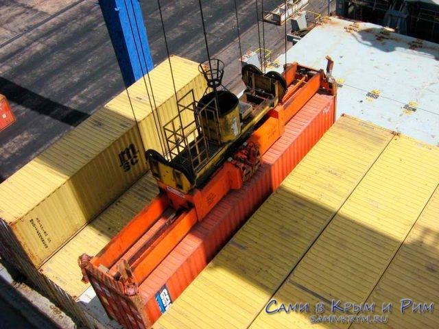 разгрузка-контейнеров