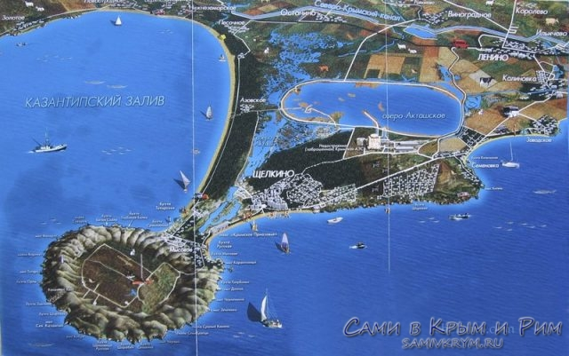 Карта-мыса-Казантип