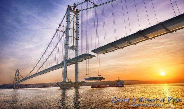 Мост-Осман-Гази-строительство