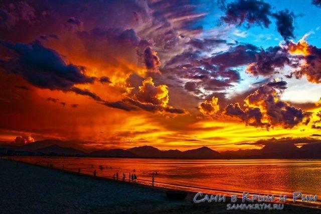 закат-на-пляже