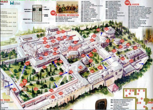 План-дворцовой-территории-Топкапы