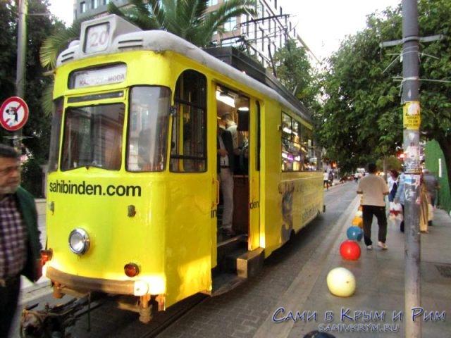 Старый трамвайчик в Кадиокое