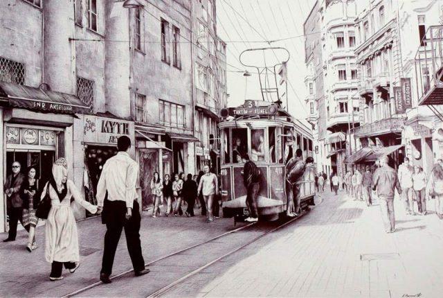 Трамвай-на-площади-Таксим