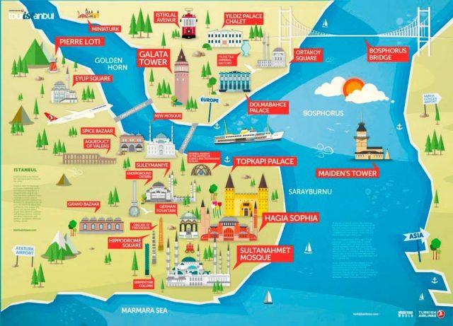 карта-достопримечательностей-Стамбула