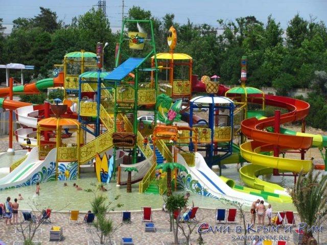 Детская зона в аквапарке Банановая Республика