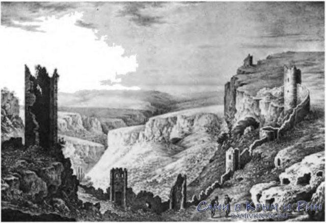 Исторические пейзажи Крыма - Мангуп Кале