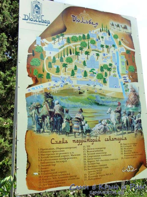 Карта дворца Дюльбер