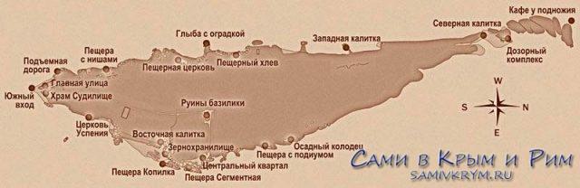 Карта города Эски Кермен