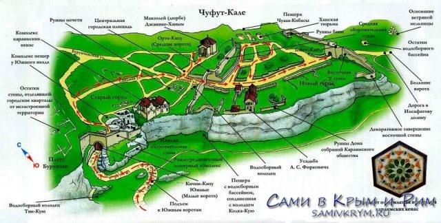 Карта-крепости-Чуфут-кале
