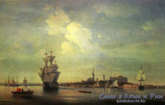 Морские баталии на море картина