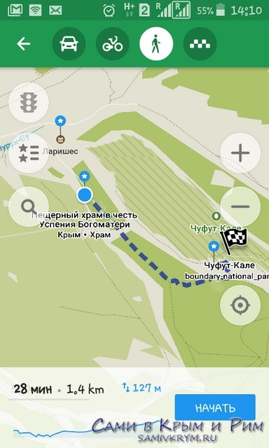 Пешком на Чуфут-Кале