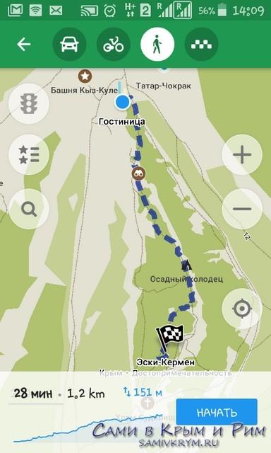 Пешком на Эски-Кермен