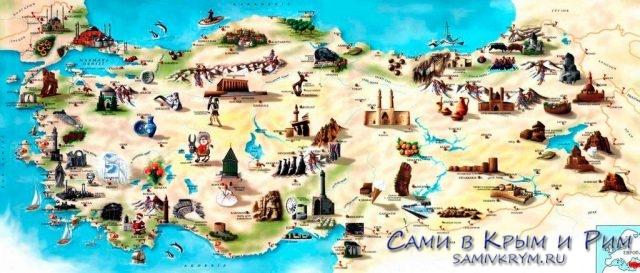 Туристическая-карта-Турции
