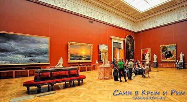Зала Айвазовского в Русском музее Питера
