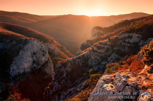 Большой каньон на закате