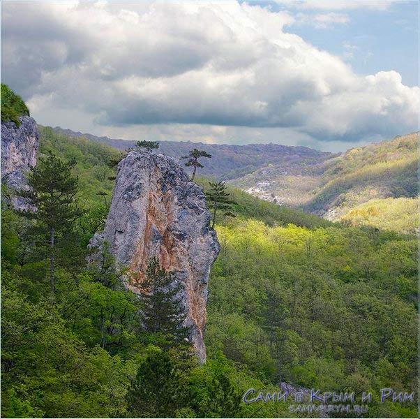 Виды каньона в Крыму