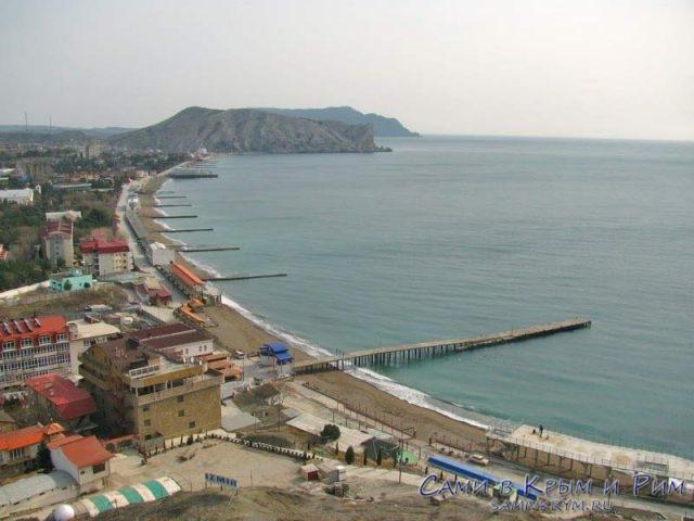 Вид на Судак с Генуэзской крепости