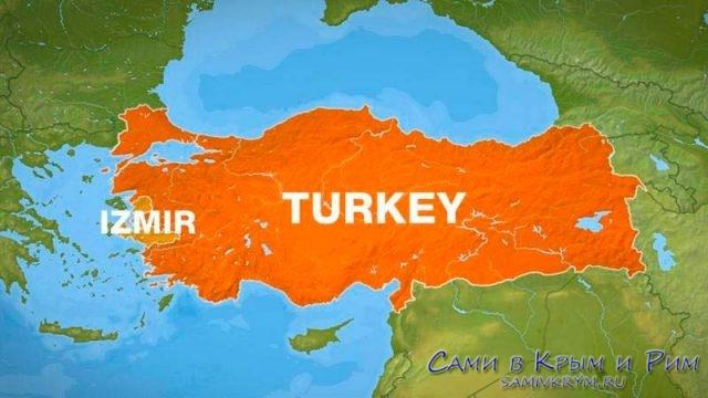 Измир-на-карте-Турции