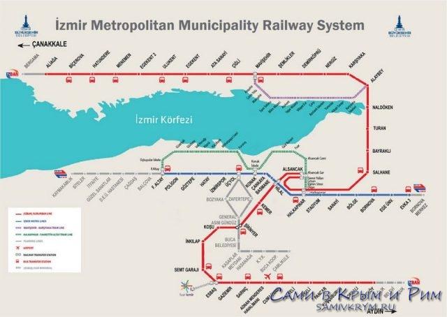 Карта-метро Измира