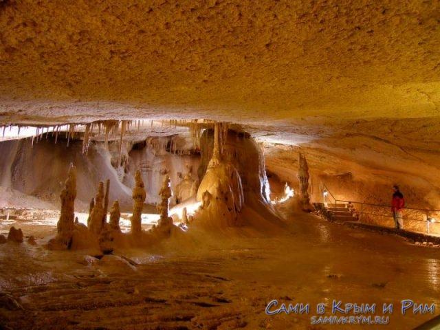 Маршрут по залам Мраморной пещеры