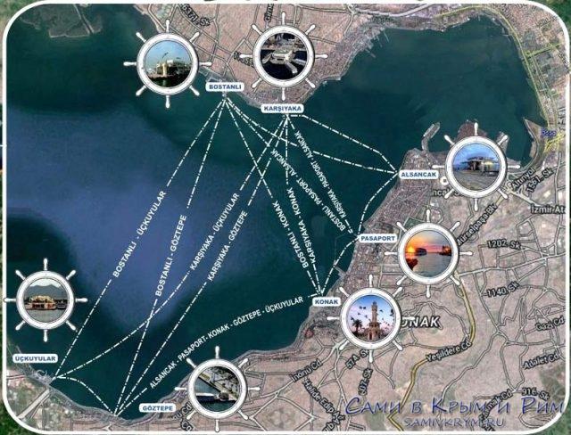 Морские паромы в Измире - съема маршрутов