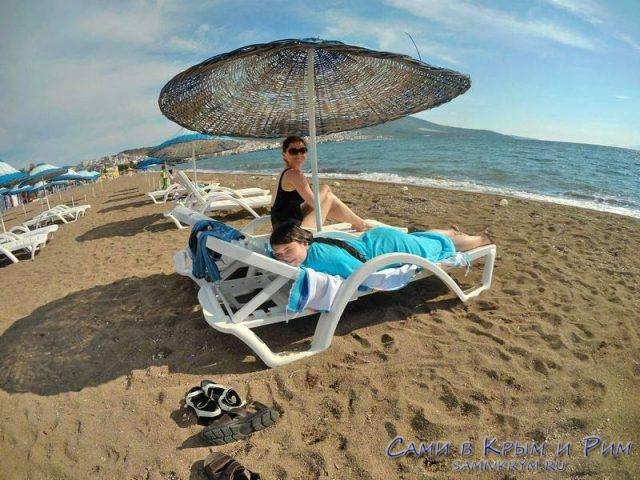 Мы на пляже в Дикили