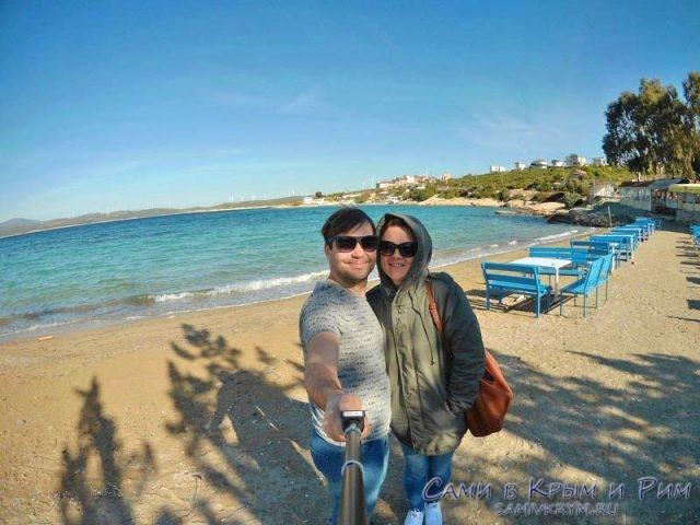 Мы приехали к морю рядом с развалинами Теос