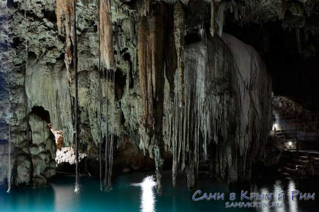 Подводные воды подземных пещер