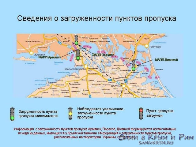 Таможенные пропускные пункты Крыма