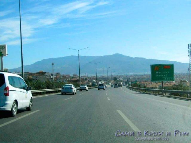 Трасса из Измира на юг