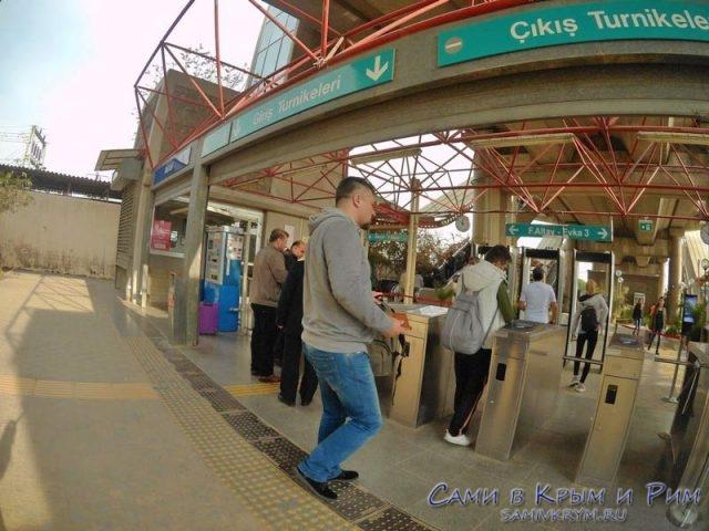 Турникеты на метро