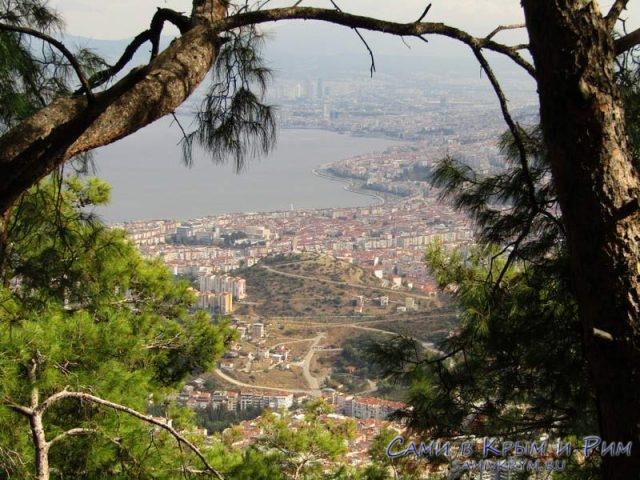 Вид с вершины на город