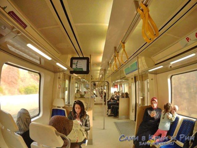 Внутри поезда в Измире