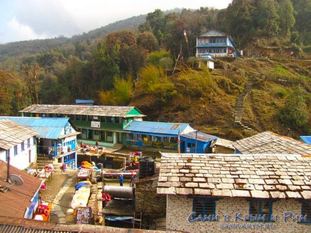Деревня Тадепани на пути трека