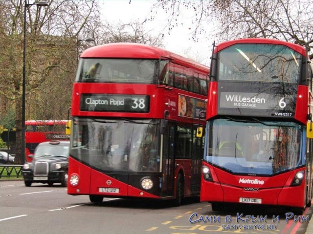 Двухэтажные автобусы Лондона