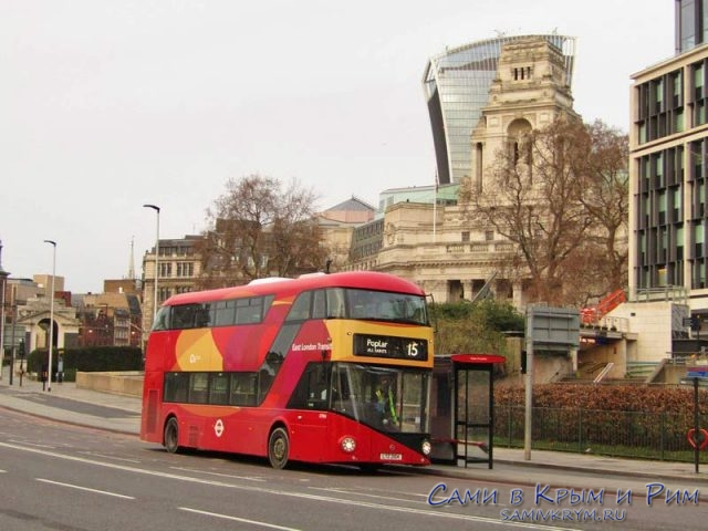 Двухэтажный автобус 15 маршрута