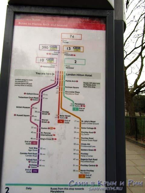 Маршрут движения автобусов