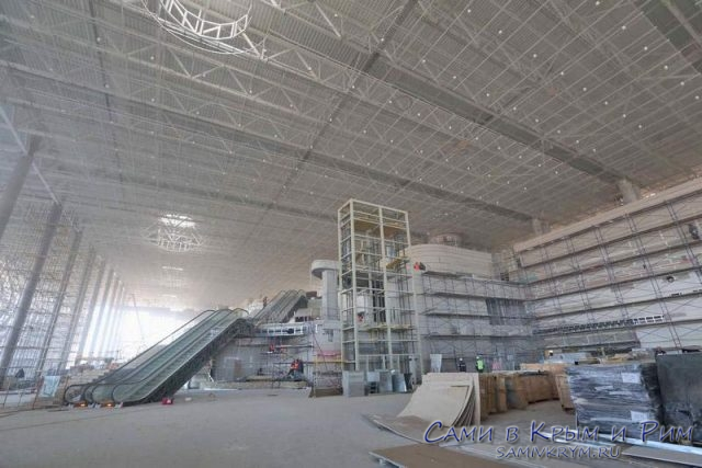 Огромное пространство нового терминала