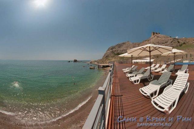 Пляж отеля Солдайя