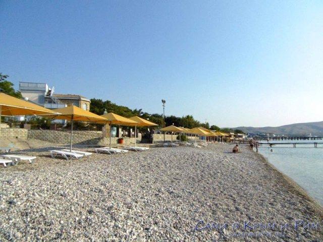 Пляж возле дома-музея Волошина