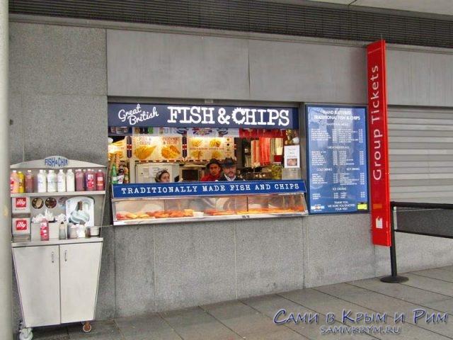 Рыба с чипсами - традиционный фастфуд