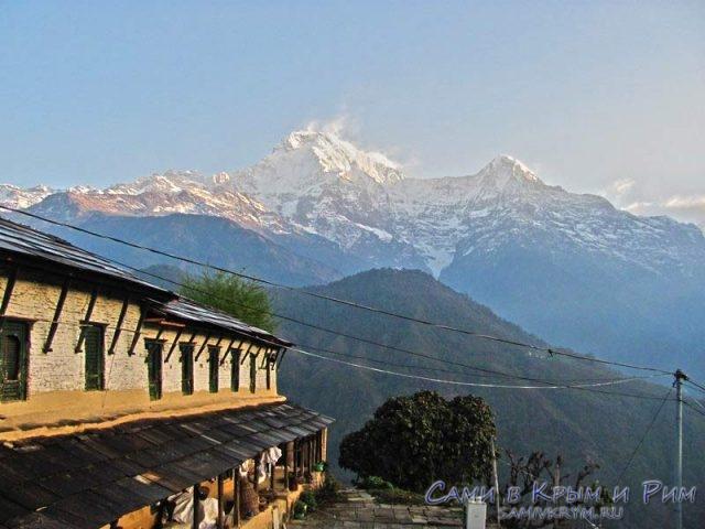 Утро в деревне Гандрук