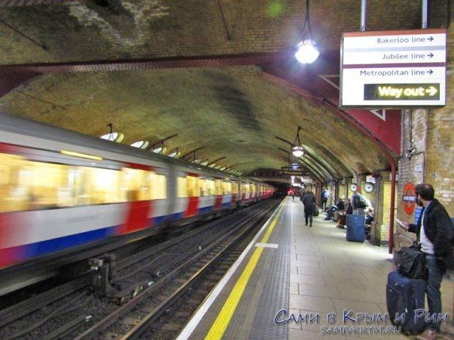 В метро Лондона
