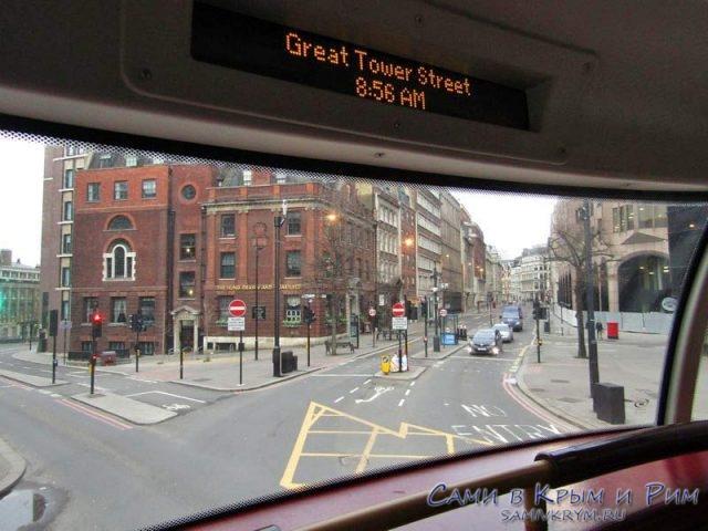 Видовые места на втором этаже в автобусе